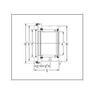 KOYO RAX 550 Complex Bearing